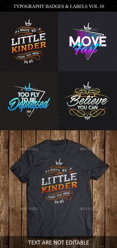 Typography Badges And Labels Vol.10 - #Badges & Stickers Web Elements