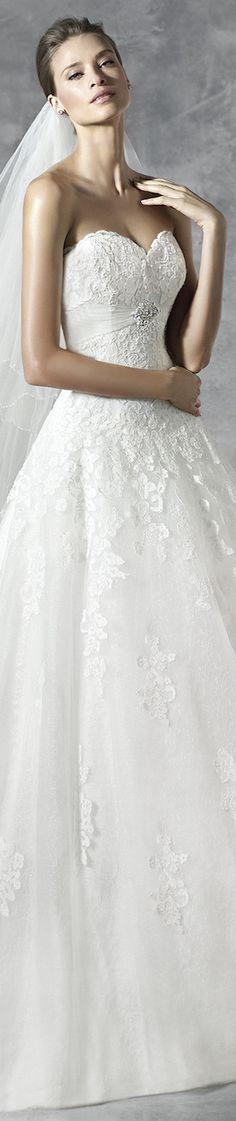 PRONOVIAS BRIDAL GOWNS 2016 PLACET WEDDING DRESS