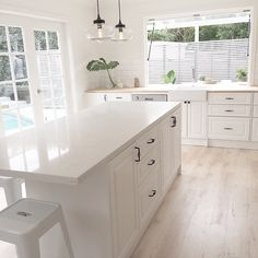 || White - Kitchen | Three Birds Renovations ||