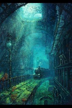 The forgotten legacy of Gustav Eiffel - Michael Raaflaub Illustration Fantasy Places, Fantasy World, Anime Fantasy, Dark Fantasy, Fantasy Artwork, Fantasy Landscape, Stock Foto, Atlantis, Concept Art
