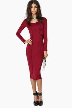 Nasty Gal Human Nature Midi Dress