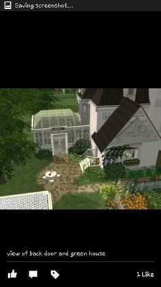 Sky view of conservatory