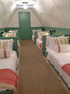 sleepover room in the attic!
