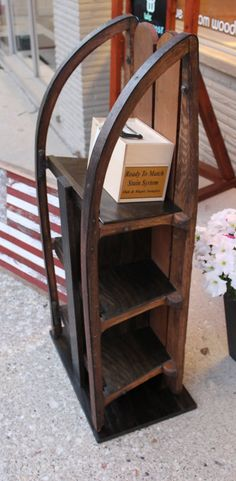 Hey, I found this really awesome Etsy listing at https://www.etsy.com/listing/198541775/sled-book-shelf-unit-or-coffee-table