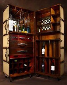 malle de cabine bar il pinterest bar. Black Bedroom Furniture Sets. Home Design Ideas