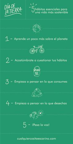 5 hábitos esenciales para una vida más sostenible Climate Change Quotes, Eco Store, Recycling Process, Environmental Engineering, Fitness Facts, Love The Earth, You Better Work, Creative Advertising, Green Life