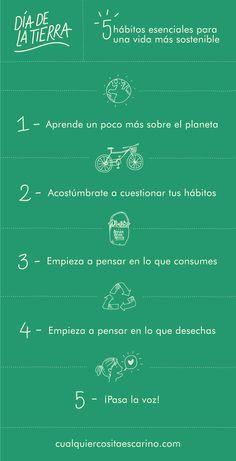 5 hábitos esenciales para una vida más sostenible