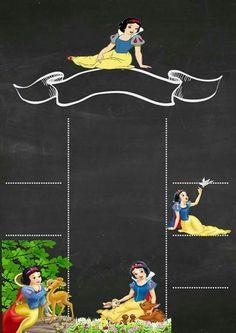 Kids Chalkboard, Snow White Birthday, Disney Princess Party, Princesas Disney, 2nd Birthday Parties, Childrens Books, Paper Crafts, Invitations, Biscuit