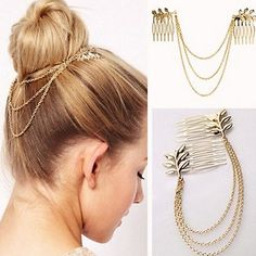 Fashion Womens Rhinestone Metal Head Chain Headband Headpiece Hair Band Jewelry