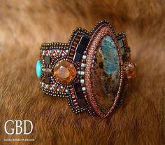 Купить Suomi браслет - рыжий, Этнический стиль, этнический браслет, суоми, опал