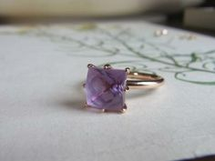 pink gold amethyst ring.
