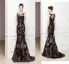 2014 New Black Long Formal Evening Ball Prom Cocktail Dresses Wedding Gown