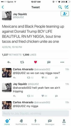 Damn right let's unite cause we all fighting for the same shit #tacosandfriedchickenunite