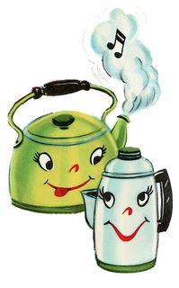 Poodles and Pin Curls: A Poodle Pot of Tea Art Vintage, Vintage Paper, Vintage Images, Tea Art, Vintage Greeting Cards, Vintage Valentines, Vintage Coffee, Vintage Children, Bunt