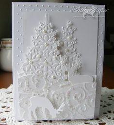 Carte Monochrome blanche