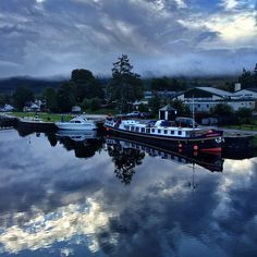 Shot with an iphone!  On the Caledonian Canal in Fort Augustus this morning and it was absolutely calm. Sailboats and barges tied up for the night, nobody stirring much yet. Peaceful. Shot on assignment in Scotland aboard The Lord of the Glens with National Geographic Expeditions. @JimRichardsonNG @NatGeoTravel @NatGeo #scotland #iphonephoto