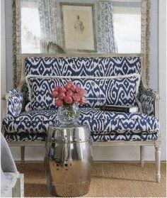 Ikat-french sofa