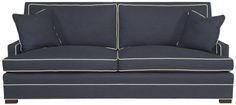 Vanguard Living Room Riverside Sofa 604-2S - Vanguard Furniture - Conover, NC 88w x 40d x 38h