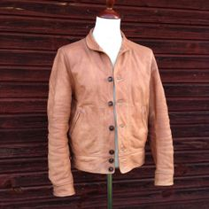 Mister Freedom Campus Leather Jacket. 2 weeks of wear and oil added. Made in USA. Cowhide. MFSC.