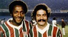 Paulo César Lima (Caju) e Rivellino - Fluminense 1975