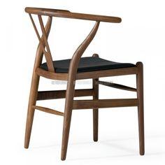 Chaise CH24 en cuir