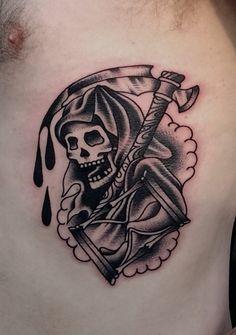 Grim reaper black and white