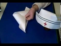 A Nurses' Cap and Doctors' Light, Dedicated to the amazing doctors and nurses around the globe Paper Crafts Origami, Diy Paper, Doctor Light, Nurse Party, Community Helpers Preschool, Hat Crafts, Diy Hat, Lessons For Kids, Preschool Crafts