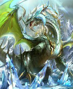 Fantasy Beasts, Fantasy Rpg, Dark Fantasy Art, Types Of Dragons, Cool Dragons, Ice Dragon, Dragon City, Fantasy Monster, Monster Art