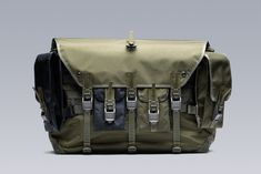ACRONYM messenger bag drop release fall winter 2018 olive back removable pouch third arm Casual Bags, Messenger Bag, Best Gifts, Fall Winter, Arms, Bicycle, Pouch, Mens Fashion, Backpacks
