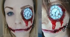 Learning to Sew - Makeup Tutorial: Clockwork - Creepypasta