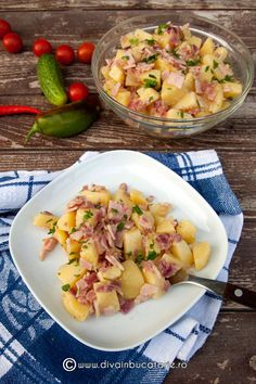SALATE CU CARTOFI | Diva in bucatarie Cooking Recipes, Healthy Recipes, Healthy Food, Romanian Food, Potato Recipes, Quick Meals, Potato Salad, Good Food, Food And Drink