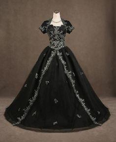 black gothic wedding gowns