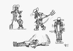 Farmer (Character design) - Pencil on paper (c) Fabrizio Lorito, 2014