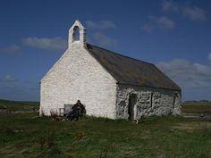 ST CWYFAN CHURCH IN THE SEA, Aberffraw, Anglesey.