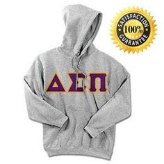 Delta Sigma Pi Standards Hooded Sweatshirt - $25.99 Gildan 18500 - TWILL