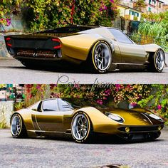 Any ideas on this Lamborghini Miura 20 TOP or FLOP concept Lamborghini Miura, Dream Cars, Super Images, Sweet Cars, Modified Cars, Amazing Cars, Awesome, Hot Cars, Custom Cars