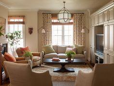 Example of neutral interior with pops of color. Lauren Liess Interiors | Portfolio | Luxury Interior Designer
