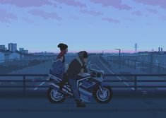 Lovers at Dusk - pixel art by Romain Courtois Framed Art Print by rcmedy - Vector Black - MEDIUM Piskel Art, Pixel Art Gif, Arte 8 Bits, Pixel Animation, 8bit Art, Tumblr Art, Aesthetic Gif, Anime Scenery, Couple Art