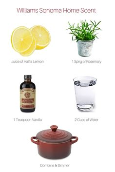 Want your home to smell like Williams Sonoma?  Here's the recipe!                                                                                                                                                                                 More