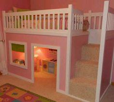 Cute little girl's bed
