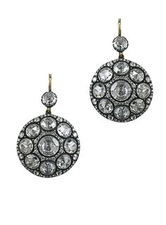 HERITAGE COLLECTION EARRINGS. Byzantium, Constantinople, Istanbul and the fabulous Topkapi palace. Each piece tells a narrative of whimsy and adventure dating back to 15th century Istanbul incorporating motifs and techniques derived from the circle of craftsmen working for the Palace. This combination of rose cut diamonds; has become one of the signature looks of the House. Only very few craftsmen still master this exclusive technique also named Palace Setting Technique.
