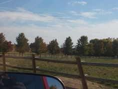 pt 145 oct 13 fence and rows of trees in nampa idaho rural.