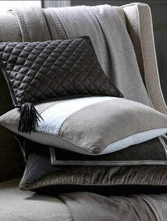 New de Le Cuona accessories, love Napoleon cushion // intede fabric design White Cushions, Scatter Cushions, Pillow Set, Pillow Covers, Accent Pillows, Bed Pillows, Leather Pillow, Couch, Interior Accessories