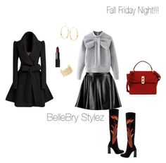 """""""Fall Friday Night"""" by ateirrahbrynae on Polyvore featuring Jeffrey Campbell, Henri Bendel, Boohoo, WithChic, Lana, Charlotte Russe and NARS Cosmetics"""