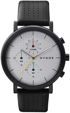 HYGGE 2204 Duality Chrono Leather Black Silver HYGGE is a unique watch brand directly influenced by Scandinavian design and based on Japanese quality and technical high-standards. Its minimalist aesthetic, attention to detail, and commitment to craftsmanship are a hallmark of both cultures. In the Danish culture, Hygge is a fundamental aspect expressing a lifestyle where cozy, warm and friendly feelings are cherished.
