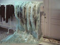 Maison Martin Margiela 'Crystalactite' with Atelier Swarovski, an installation by French artist Baptiste Debombourg