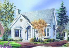 COOL house plans offers a unique variety of professionally designed home plans with floor plans by accredited home designers. Styles include country house plans, colonial, Victorian, European, and ranch. Blueprints for small to luxury home styles. Cottage Style House Plans, Cottage Floor Plans, Cottage Style Homes, Country House Plans, Cottage Design, Small House Plans, House Floor Plans, House Design, Cottage Plan