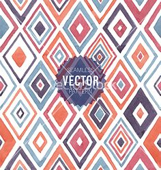 Watercolor seamless pattern vector geometric background- by Picgeek on VectorStock®