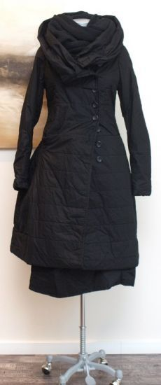 rundholz black label - Mantel wattiert black - Winter 2014 - stilecht - mode für frauen mit format...