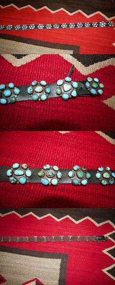 Other Native American Jewelry 11315: Outstanding Vintage Navajo Turquoise Cluster Concho Belt Sterling Nakai -> BUY IT NOW ONLY: $899.0 on eBay!